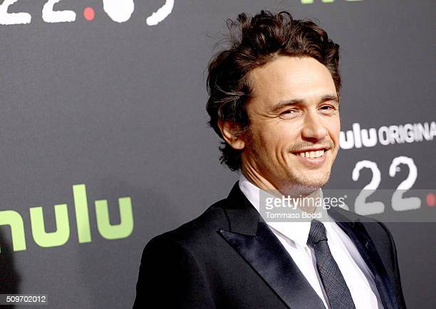 Actor James Franco attends the Hulu Original '112263' premiere at the Regency Bruin Theatre on February 11 2016 in Los Angeles California