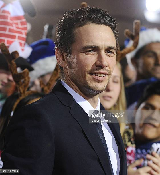 Actor James Franco attends the premiere of 'The Night Before' at The Theatre At The Ace Hotel on November 18 2015 in Los Angeles California