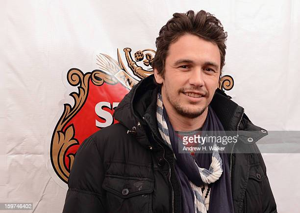 Actor James Franco attends the press dinner for James Franco hosted by Stella Artois at the Stella Artois Cafe at Village at The Lift on January 19...