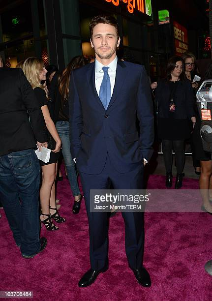 Actor James Franco attends the Spring Breakers premiere at ArcLight Cinemas on March 14 2013 in Hollywood California