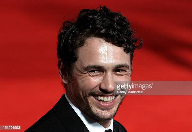 Actor James Franco attends the Spring Breakers premiere at the 69th Venice Film Festival on September 5 2012 in Venice Italy