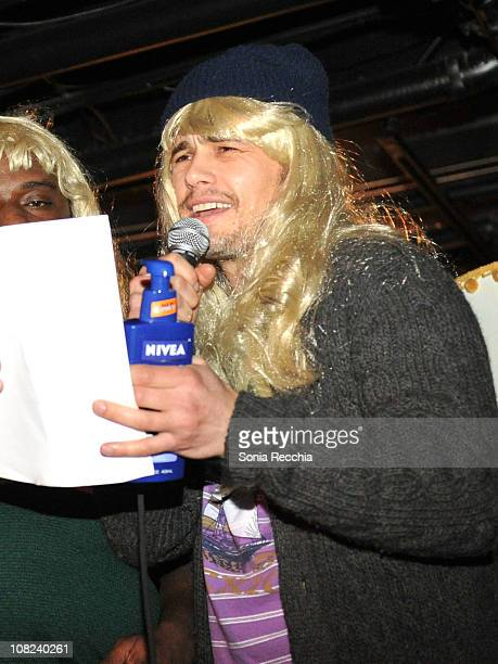 Actor James Franco attends the 'Three's Company The Drama' After Party at the NIVEA For MEN Lounge during 2011 Park City on January 21 2011 in Park...