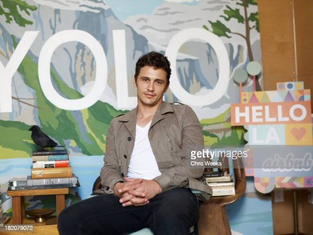 Actor James Franco Designs his Hollywood Forever Cemetery Pop-Up at Airbnb's Hello LA Design Lab on Friday, September 27, 2013 In Los Angeles.