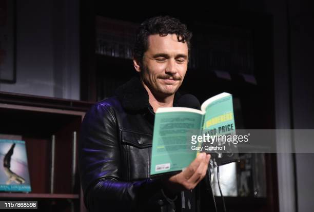 Actor James Franco does a reading onstage during 'An Evening with the Cast of HBO's The Deuce' to benefit Housing Works at Housing Works Bookstore...