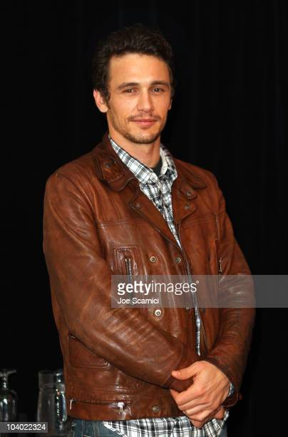 Actor James Franco poses at 127 Hours press conference during the 2010 Toronto International Film Festival at the Hyatt Regency on September 12 2010...