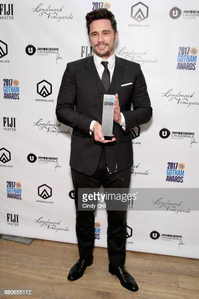 Actor James Franco poses backstage during IFP's 27th Annual Gotham Independent Film Awards on November 27 2017 in New York City
