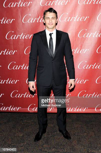 Actor James Franco poses backstage during the 22nd Annual Palm Springs International Film Festival Awards Gala at the Palm Springs Convention Center...