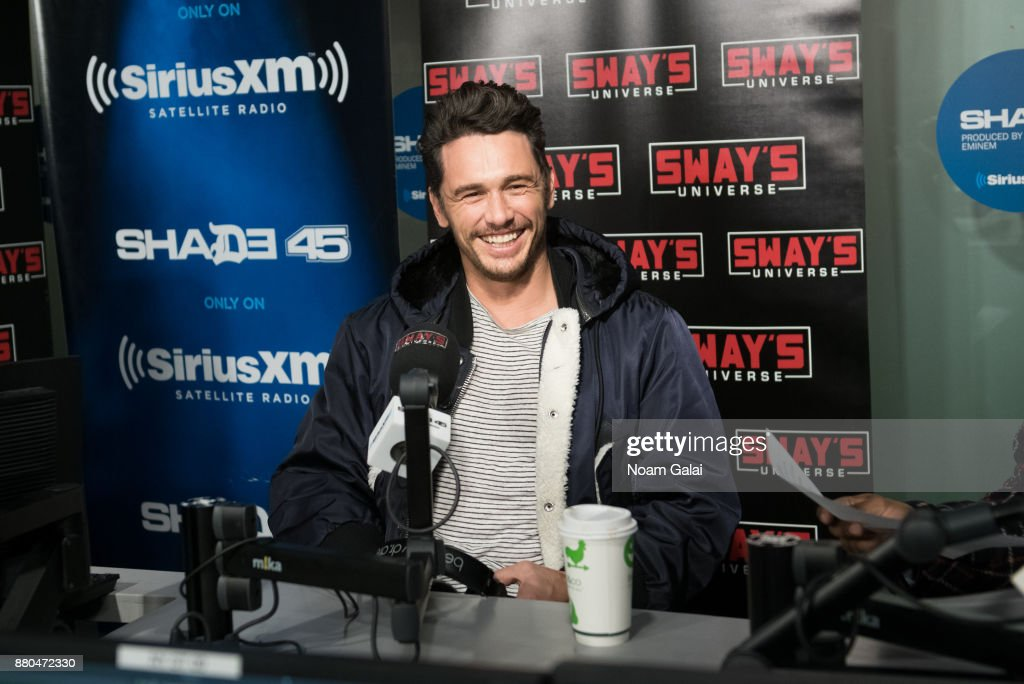Actor James Franco visits 'Sway in the Morning' on Eminem's Shade 45 at the SiriusXM Studios on November 27, 2017 in New York City.