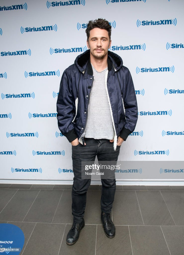 Actor James Franco visits the SiriusXM Studios on November 27, 2017 in New York City.