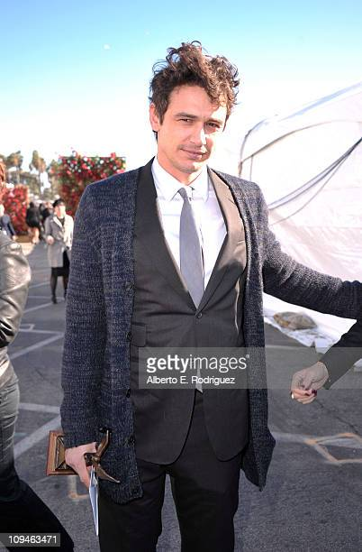 Actor James Franco winner of the Best Male Lead award for '127 Hours' attends the 2011 Film Independent Spirit Awards at Santa Monica Beach on...