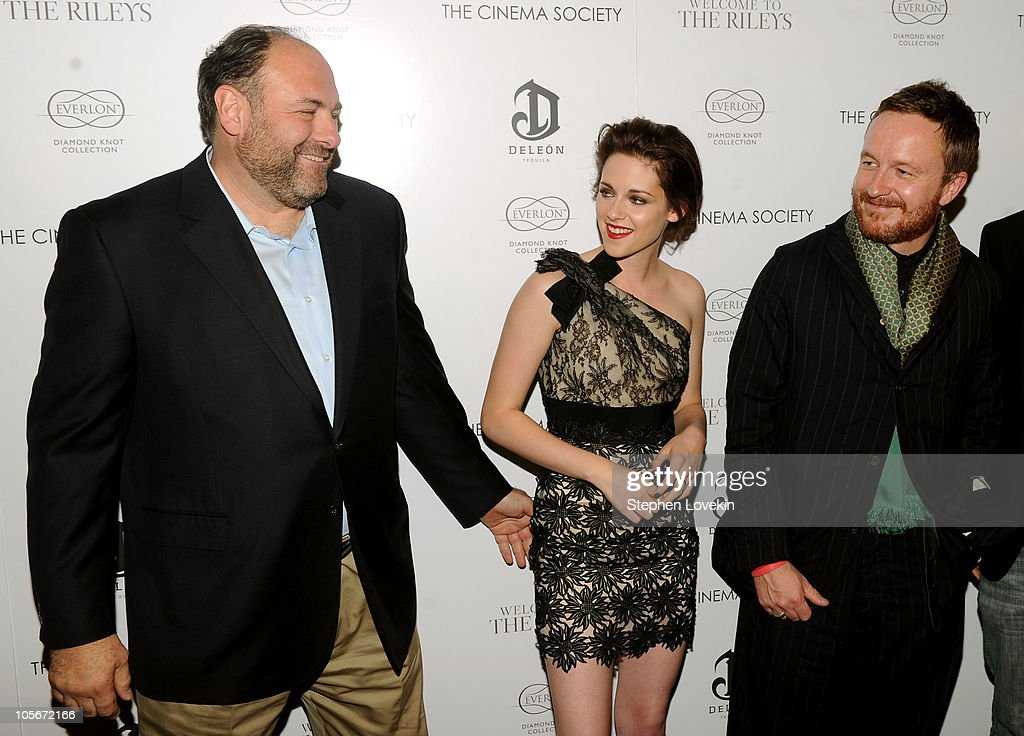 Actor James Gandolfini, actress Kristen Stewart and director Jake Scott attend The Cinema Society & Everlon Diamond Knot Collection's screening of 'Welcome To The Rileys' on October 18, 2010 at the Tribeca Grand Hotel in New York City.