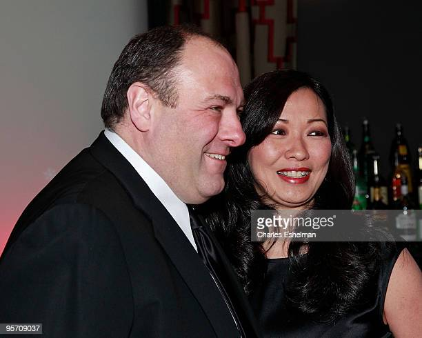 Actor James Gandolfini and girlfriend Deborah Lin attend the 2009 New York Film Critic's Circle Awards at Crimson on January 11 2010 in New York City