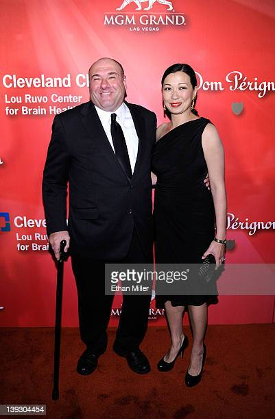 Actor James Gandolfini and wife Deborah Lin arrive at the Keep Memory Alive foundation's Power of Love Gala celebrating Muhammad Ali's 70th birthday...