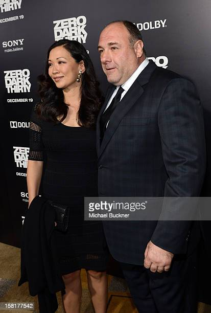 Actor James Gandolfini and wife Deborah Lin arrive at the Los Angeles premiere of Columbia Pictures' Zero Dark Thirty at Dolby Theatre on December 10...