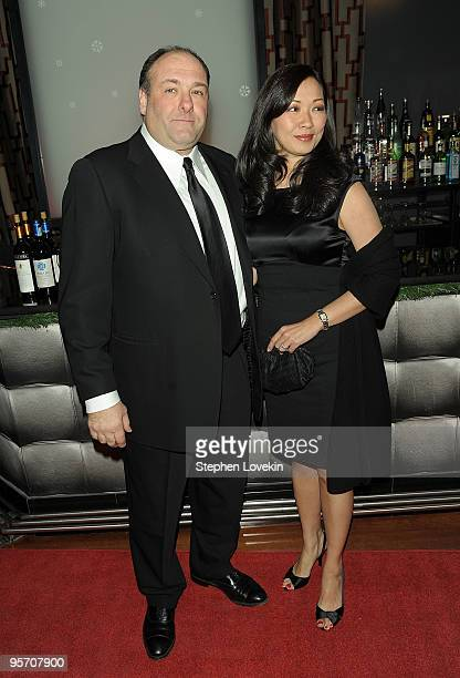 Actor James Gandolfini and wife Deborah Lin attend the 2009 New York Film Critic's Circle Awards at Crimson on January 11 2010 in New York City