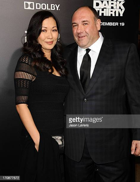 Actor James Gandolfini and wife Deborah Lin attend the premiere of Zero Dark Thirty at the Dolby Theatre on December 10 2012 in Hollywood California