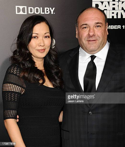 Actor James Gandolfini and wife Deborah Lin attends the premiere of Zero Dark Thirty at the Dolby Theatre on December 10 2012 in Hollywood California