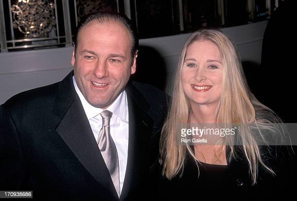 Actor James Gandolfini and wife Marcy attend the American Museum of the Moving Image Salute to Julia Roberts on March 4 2001 at the WaldorfAstoria...