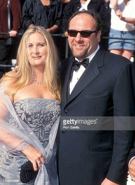 Actor James Gandolfini and wife Marcy attend the Sixth Annual Screen Actors Guild Awards on March 12 2000 at the Shrine Auditorium in Los Angeles...