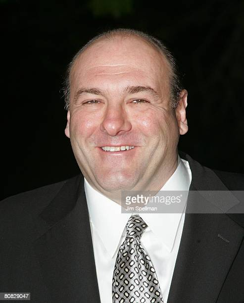 Actor James Gandolfini arrives at the 7th Annual Tribeca Film Festival Vanity Fair Party at the State Supreme Courthouse on April 22 2008 in New York...