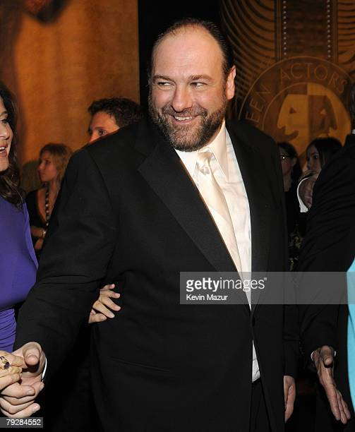 Actor James Gandolfini at the TNT/TBS broadcast of the 14th Annual Screen Actors Guild Awards at the Shrine Auditorium on January 27 2008 in Los...