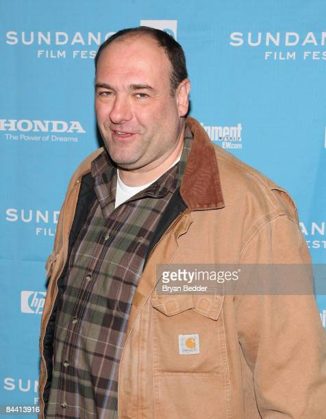 Actor James Gandolfini attends the premiere of 'In The Loop' held at the Eccles Theatre during the 2009 Sundance Film Festival on January 22 2009 in...