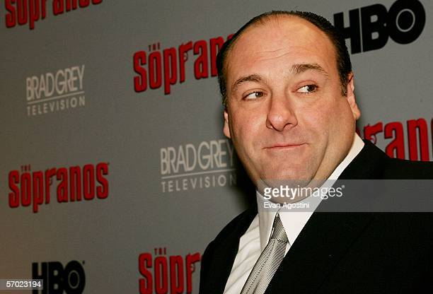 Actor James Gandolfini attends the sixth season premiere of the HBO series 'The Sopranos' at the Museum Of Modern Art on March 7 2006 in New York City