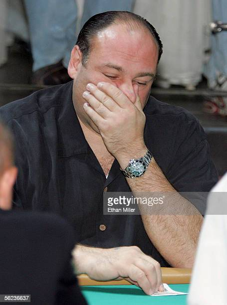 Actor James Gandolfini participates in The Comedy Festival's Comedy Cares first annual Celebrity Poker Tournament at the Pure Nightclub at Caesars...