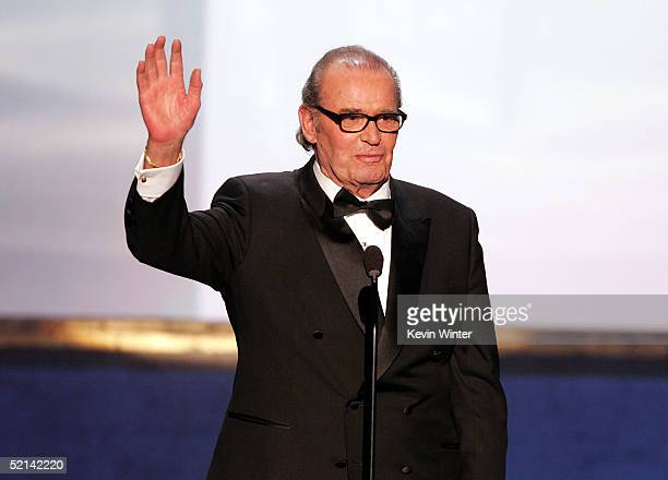 Actor James Garner speaks onstage during the 11th Annual Screen Actors Guild Awards at the Los Angeles Shrine Exposition Center on February 5, 2005...