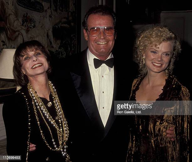 Actor James Garner, wife Lois Garner and Romy Windsor attend Television Academy Hall Of Fame Gala on September 23, 1991 at the Beverly Wilshire Hotel...