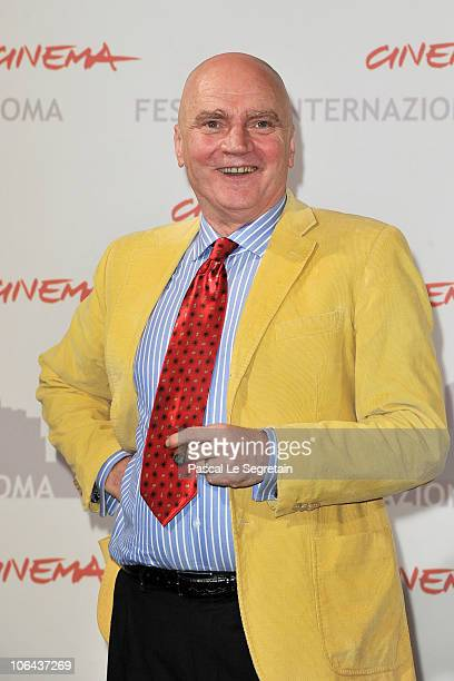 Actor James Hagan poses at the Little Sparrows photocall during The 5th International Rome Film Festival at Auditorium Parco Della Musica on November...
