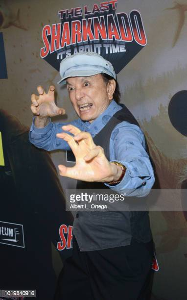 Actor James Hong arrives for the Premiere Of The Asylum And Syfy's 'The Last Sharknado It's About Time' held at Cinemark Playa Vista on August 19...