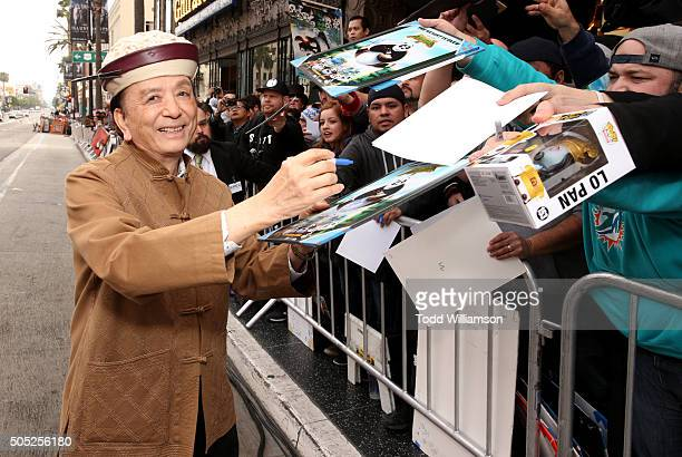 Actor James Hong attends the premiere of DreamWorks Animation and Twentieth Century Fox's 'Kung Fu Panda 3' at the TCL Chinese Theatre on January 16...
