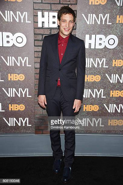Actor James Jagger attends the New York premiere of Vinyl at Ziegfeld Theatre on January 15 2016 in New York City
