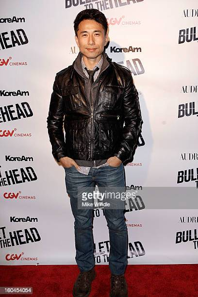 Actor James Kyson attends KoreAm Journal and Audrey Magazine's advanced screening of 'Bullet To The Head' at CGV Cinemas on January 31 2013 in Los...
