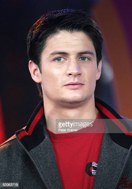 Actor James Lafferty from 'One Tree Hill' makes an appearance on MTV's Total Request Live January 25 2005 in New York City