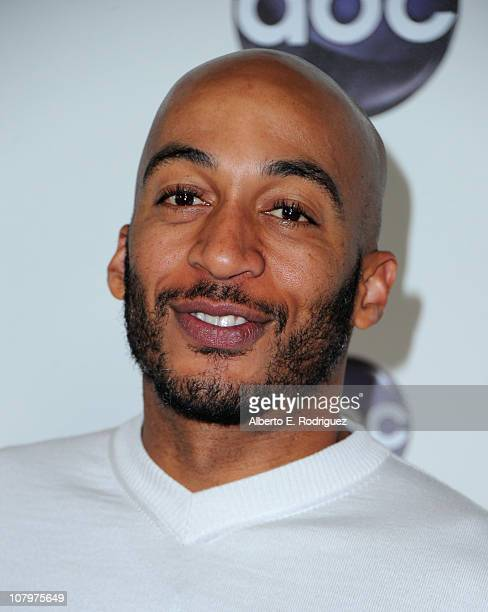 Actor James Lesure arrives to Disney ABC Television Group's TCA Winter Press Tour on January 10 2011 in Pasadena California