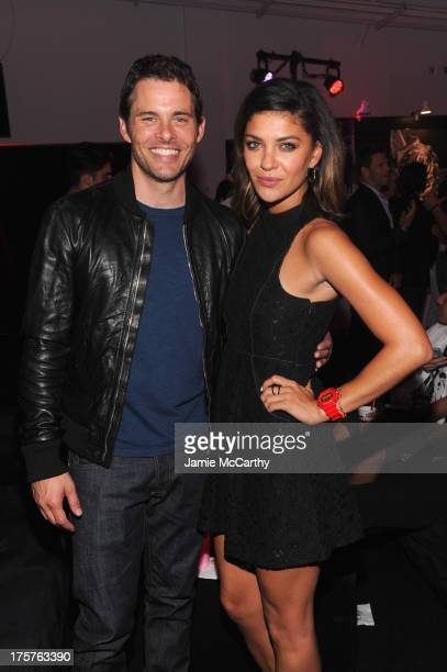 Actor James Marsden and actress Jessica Szohr attend GShock Shock The World 2013 at Basketball City on August 7 2013 in New York City