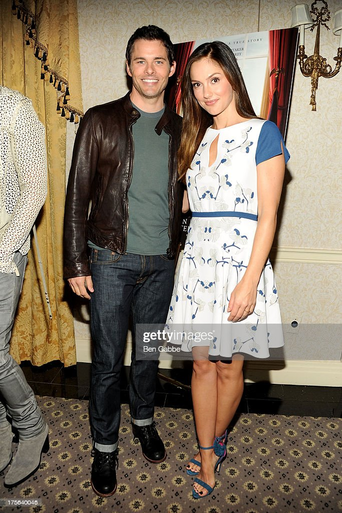 Actor James Marsden (L) and actress Minka Kelly attend the press conference for The Weinstein Company's LEE DANIELS' THE BUTLER at Waldorf Astoria Hotel on August 5, 2013 in New York City.