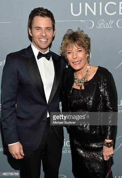 Actor James Marsden and Dena Kaye attend the 2014 UNICEF Ball presented by Baccarat at the Beverly Wilshire Four Seasons Hotel on January 14 2014 in...