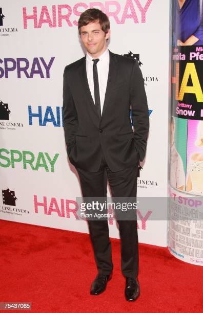 Actor James Marsden and guest attend the 'Hairspray' premiere presented by New Line Cinema at the Ziegfeld Theatre on July 16 2007 in New York City