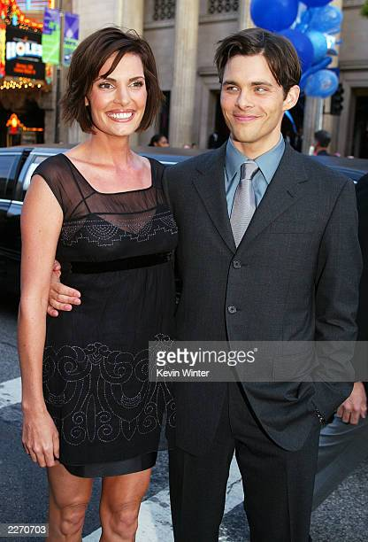 Actor James Marsden and wife Lisa arrive at the premiere of X2 XMEN UNITED at the Chinese Theatre on April 28 2003 in Los Angeles California