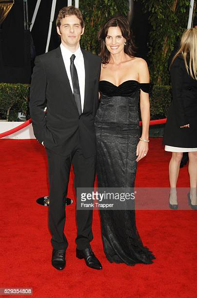 Actor James Marsden and wife Lisa Linde arrive at the 14th annual Screen Actors Guild Awards�� in Los Angeles