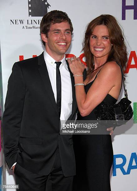 Actor James Marsden and wife Lisa Linde arrive at the New York premiere of Hairspray at The Ziegfeld on July 16 2007 in New York
