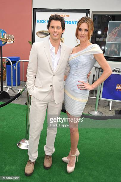 Actor James Marsden and wife Lisa Linde arrive at the world premiere of the live action/CG animated comedy Hop held at Universal Studios Hollywood