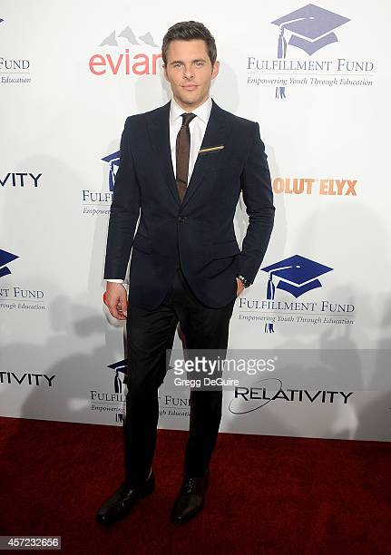 Actor James Marsden arrives at the 20th Annual Fulfillment Fund Stars Benefit Gala at The Beverly Hilton Hotel on October 14 2014 in Beverly Hills...