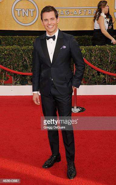 Actor James Marsden arrives at the 20th Annual Screen Actors Guild Awards at The Shrine Auditorium on January 18 2014 in Los Angeles California
