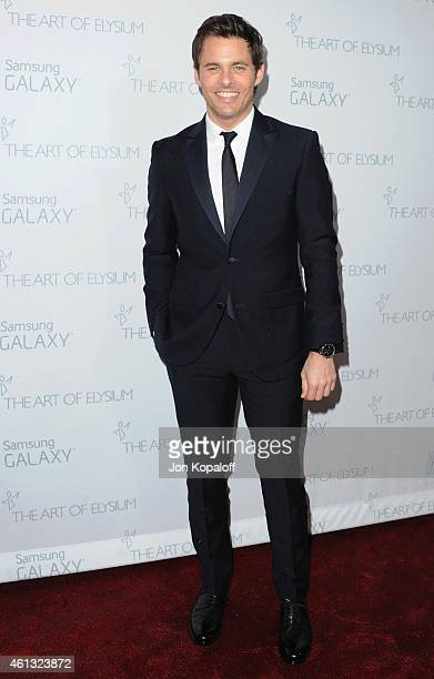 Actor James Marsden arrives at The Art Of Elysium 8th Annual Heaven Gala at Hangar 8 on January 10 2015 in Santa Monica California