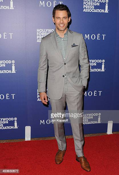 Actor James Marsden arrives at The Hollywood Foreign Press Association Installation Dinner at The Beverly Hilton Hotel on August 14 2014 in Beverly...