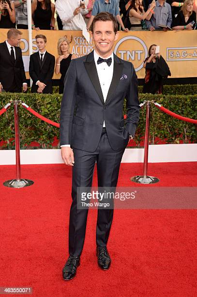 Actor James Marsden attends 20th Annual Screen Actors Guild Awards at The Shrine Auditorium on January 18 2014 in Los Angeles California